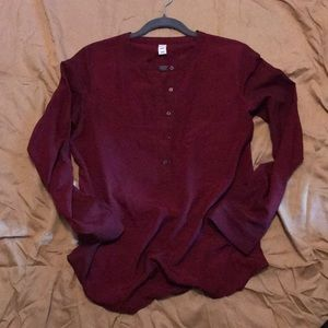 Burgundy Old Navy blouse